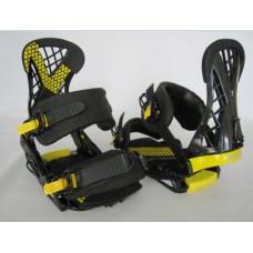Крепления для сноуборда Santa Cruz Plasma Black/Yellow