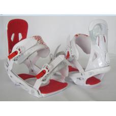 Крепления для сноуборда Santa Cruz Sigma White/Red
